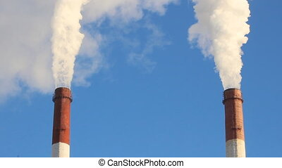 Thermal power plant, the smoke from