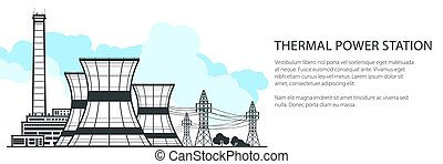 Thermal Power Station Banner