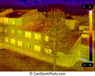 Thermal vision Small town