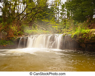 Thermal waterfall - Geothermal waterfall in kerosene creek...