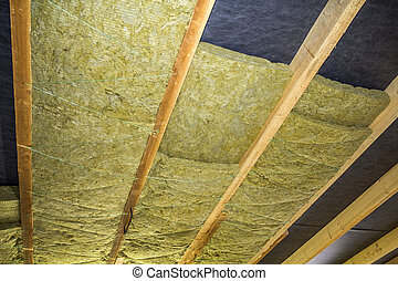 Planking pose installation thermique isolation for Mineral wool installation