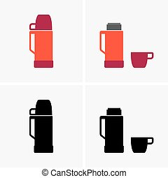 thermo, botella, taza