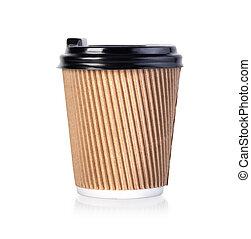 thermo, café, cup., emporter