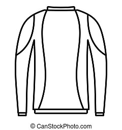 Thermo clothes icon, outline style