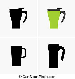 Thermo cups - Set of thermo cup icons