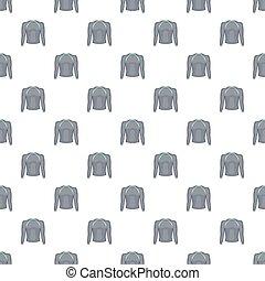 Thermolinen gray pullover pattern, cartoon style