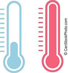 thermomètre, icône