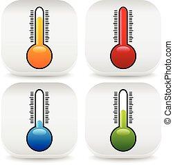 thermomètre, icônes