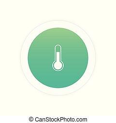 thermomètre, signe, icône