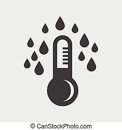 thermomètre, vector., icône