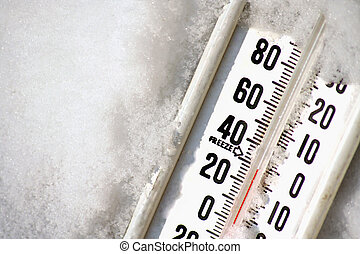 Thermometer - a thermometer in snow