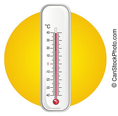 thermometer and icon