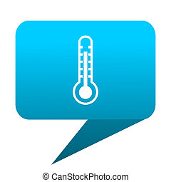 thermometer blue bubble icon