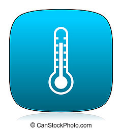 thermometer blue icon