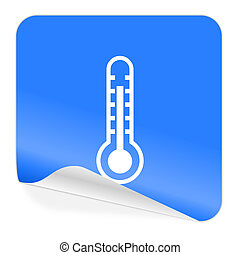 thermometer blue sticker icon