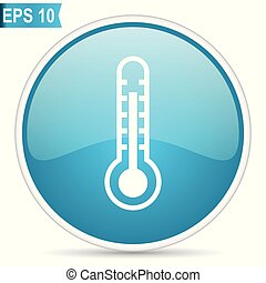 Thermometer blue vector icon