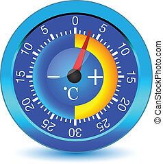 Thermometer button.Vector