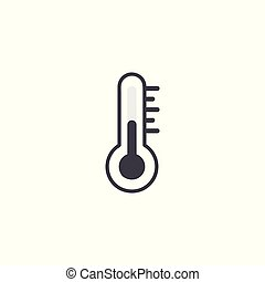 thermometer color on white background.