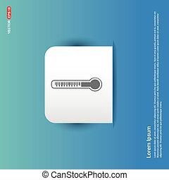 Thermometer Icon - Blue Sticker button