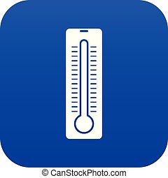 Thermometer icon digital blue for any design isolated on...