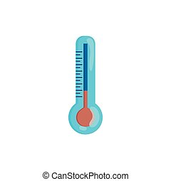 Thermometer icon in cartoon style