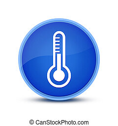 Thermometer icon isolated on special blue round button abstract
