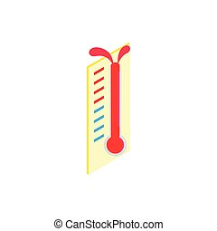 Thermometer icon, isometric 3d style