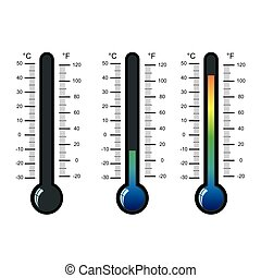 thermometer icon on white background vector