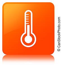 Thermometer icon orange square button