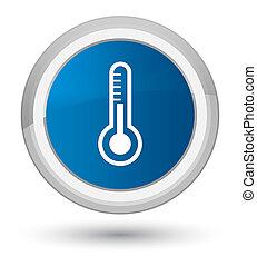 Thermometer icon prime blue round button