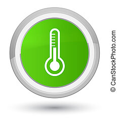 Thermometer icon prime soft green round button