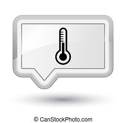 Thermometer icon prime white banner button