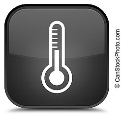 Thermometer icon special black square button