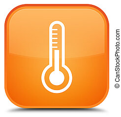 Thermometer icon special orange square button