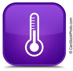 Thermometer icon special purple square button