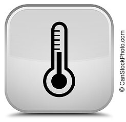 Thermometer icon special white square button