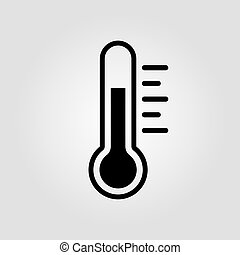 Thermometer icon vector illustration on gray background