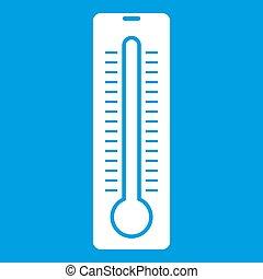 Thermometer icon white