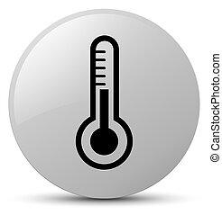 Thermometer icon white round button