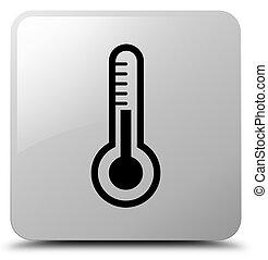 Thermometer icon white square button