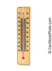 Thermometer isolated on white background...