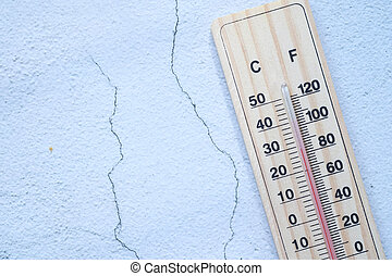 thermometer isolated on white background, top view .