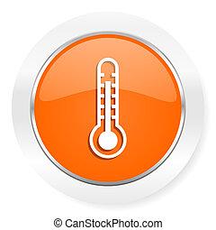 thermometer orange computer icon