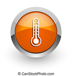 thermometer orange glossy web icon