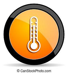 thermometer orange icon