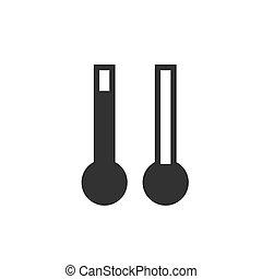 thermometer., quentes, e, gelado, temperatura