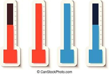 thermometer set on white