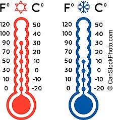 Thermometer set vector illustration