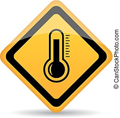 Thermometer vector sign