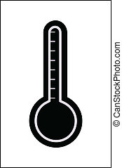 Thermometer Vector Silhouette - Abstract Conceptual Design...